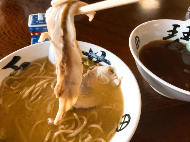 味噌蕎麦のチャーシュー
