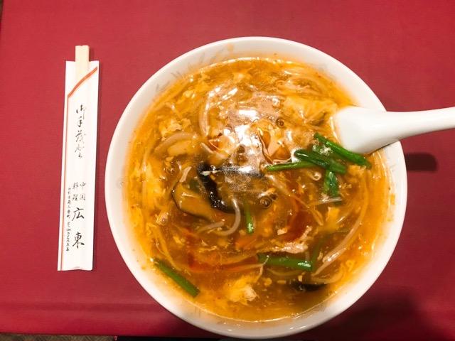 中国料理広東酸辣湯麺
