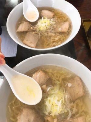 塩ラーメンと日本海藻塩ラーメン