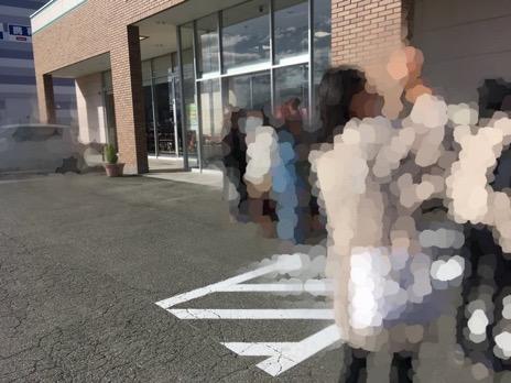 鬼滅の刃アベイルコラボに並ぶ女性達