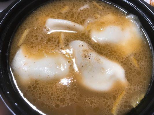 鶏白湯焼き餃子 スープがめっちゃくちゃうんめえええ!