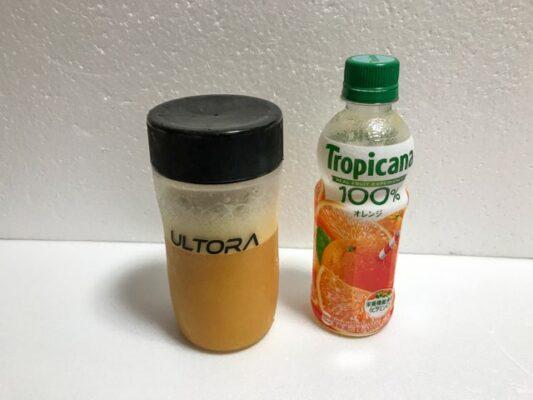BCAAザ・ブーストとオレンジジュース